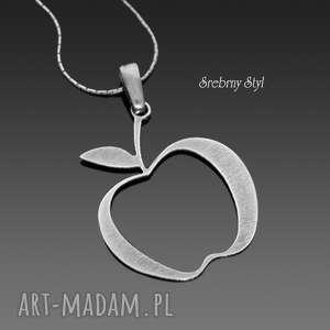 jabłuszko - rezerwacja srebrny styl - jabłko, oksydowane, srebro