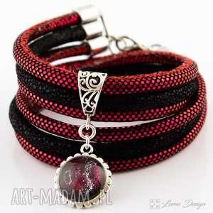 bransoletki bransoletka z rzemieni rockabilly, zawieszka, kolorowa, wyjściowa