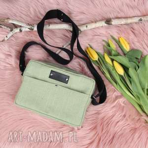 zielona torebka box aurora pojemna listonoszka, box, mała torebka, listonoszka
