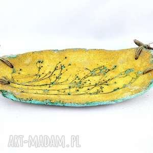ceramika patera ceramiczna z drzewem, patera, dekoracje, prezent, sztuka