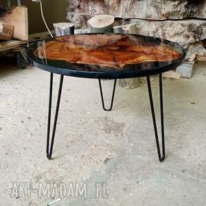 ręczne wykonanie stoły okrągły stolik kawowy z żywicą