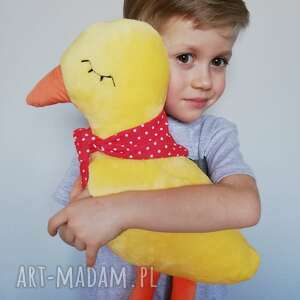przytulanka dziecięca kaczuszka w apaszce, hand made, pomysł