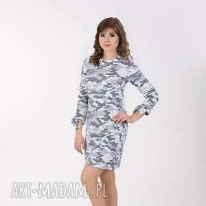 sukienki ana sukienka z wiązaniem przy rękawach, moro rozmiar 36