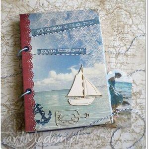scrapbooking notesy notes / oceanów szczęśliwych, notes, żaglówka, morze, niebieski