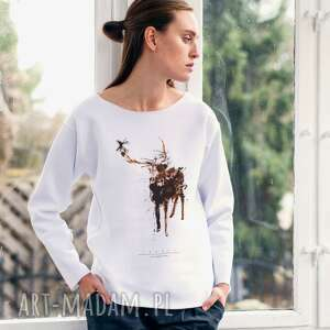 DEER PAINTED Bluza Oversize, oversize