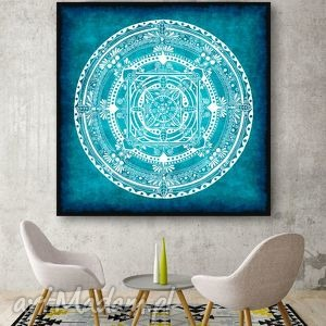 Mandala 30x30cm, mandala, plakat, etno, rysunek, obraz