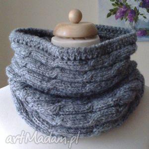 ręcznie wykonane szaliki komin unisex