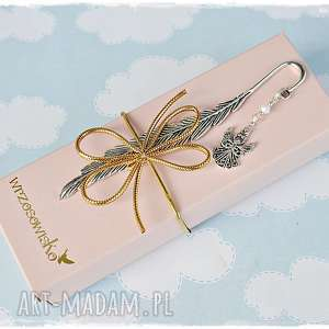 wrzosowisko aniołek - zakładka, uroczy prezent, anioł, prezent
