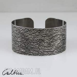 siatka - metalowa bransoleta - bransoleta, bransoletka, szeroka, metalowa, duża
