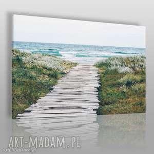 fotoobraz na płótnie - morze plaża most 120x80 cm 904401, morze, plaża, most, wydmy