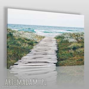 Fotoobraz na płótnie - MORZE PLAŻA MOST 120x80 cm (904401), morze, plaża, most