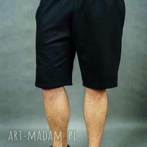 spodenki dresowe męskie city shorts czarne, spodenki
