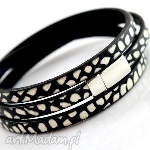 BEEZOO bransoletka MAGNETOOS TRIPLE mozaik black & white