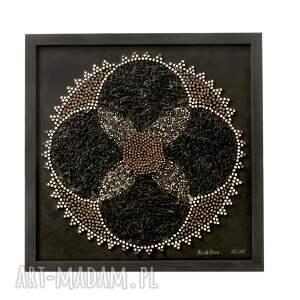 ręcznie robione mandale mandala glamour | asamblaż upcyclingowa dekoracja ścienna