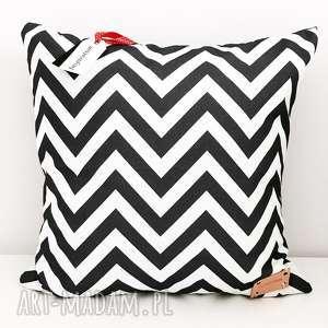 ręcznie zrobione poduszki poduszka dekoracyjna geometric zygzak