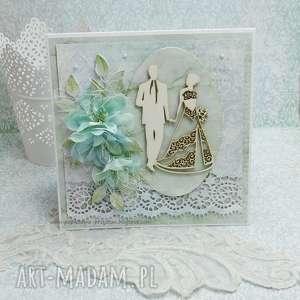 handmade scrapbooking kartki ślubna kartka z pudełkiem