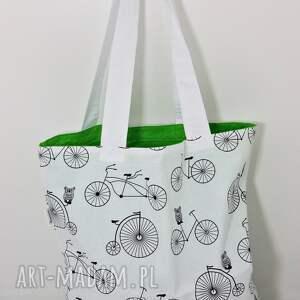 Torba na zakupy motyw rowery, torba, torba-na-zakupy, shopperka, rower