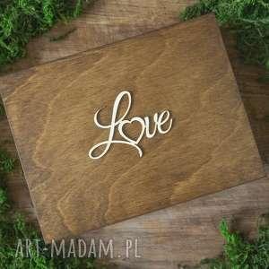 pudełko na obrączki - love, pudełko, obrączki, drewno, koronka, rustykalne