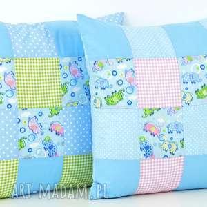 komplet poszewek na poduszkę 40x40 patchwork - poduszka, przytulanka, prezent