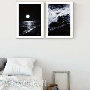 zestaw 2 grafik 30 x 40 cm wykonana ręcznie, abstrakcja, elegancki minimalizm
