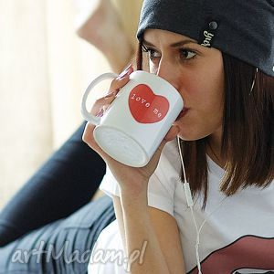 LOVE ME kubek z sercem walentynki 330 ml, walentynki, valentines, mug, red, heart
