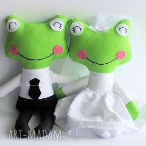 Prezent Para ślubna - żabka mniejsza , ślub, para, żabka, zabawka, prezent, elegancka