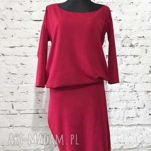 unikalny, red moon, czerwona sukienka, asymetryczna folk, boho