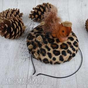 handmade ozdoby do włosów wiewiórka