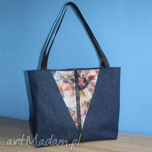 duża torba - shopper bag mozaika, torba, shopper, dziewczyna, prezent, święta