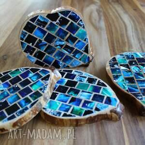 ręczne wykonanie podkładki drewniane - mozaika