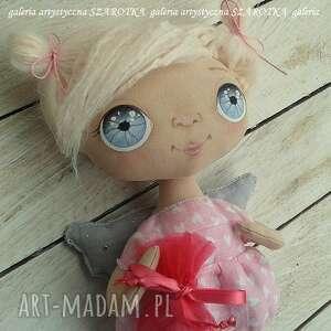 aniołek lalka - dekoracja tekstylna, ooak, aniołek, szmaciana