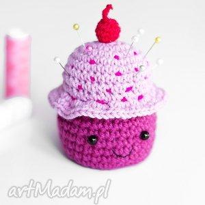 Poduszeczka na igły. Muffinka, muffinka, igły, szyciw, poduszk, poduszeczka