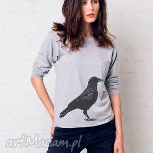 kruk bluzka oversize, bluzka, longsleeve, bawełna, casual, moda