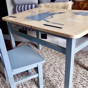 stolik i krzesełko maluch, meble dzieciece, drewniane