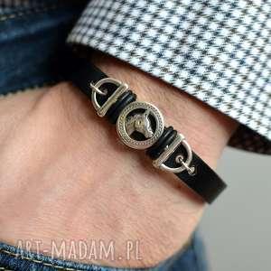 handmade męska bransoletka hombree horse black