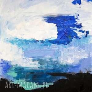 Akryl na płótnie ABSTRAKCJA obraz artystki plastyka Adriany Laube 100x80cm,