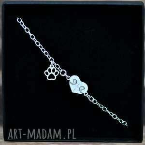 handmade serce - nosek -> bransoletka, srebro pr. 925