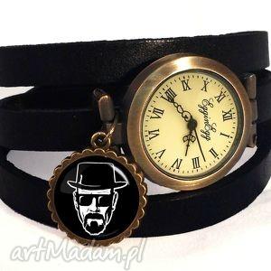 heisenberg - zegarek bransoletka na skórzanym pasku breaking, prezent