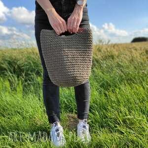 Szydełkowa damska torba shopperka fabryqaprzytulanek torba