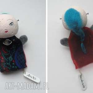 dom aiko - mała laleczka pacynka, lalka, artystyczne, teatrzyk, eko