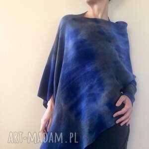 anna damzyn asymetryczny wełniany sweter chmurzaste niebo, sweter, bluzka