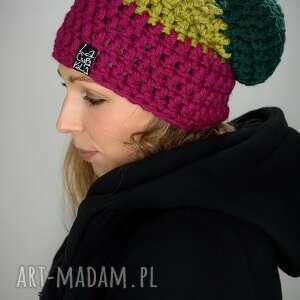 czapka tricolour 8, czapa, kolorowa, snowboard, prezent, upominek, gruba