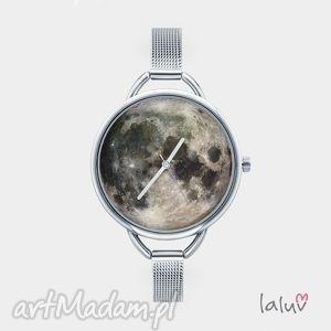 Zegarek z grafiką MOON, księżyc, kosmos, zaćmienie, grafika, wszechświat, astronauta