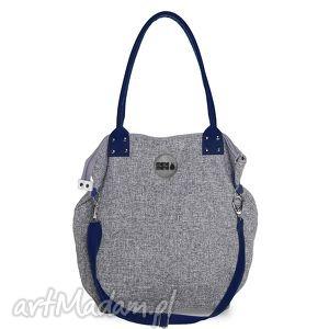 na ramię torba worek basmati granat, duża, prezent, podróże, szara torebki