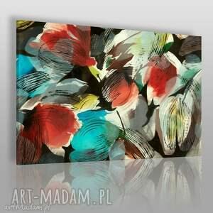 obraz na płótnie - kwiaty tulipany 120x80 cm 15301, tulipany, z materiału