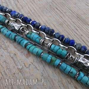 lapis lazuli z turkusem, turkus, lapis