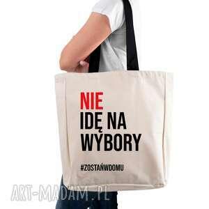 torba eko xxl nie idę na wybory #zostańwdomu, naramie, podrozna, wybory2020