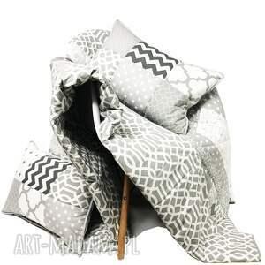 koce i narzuty komplet s narzuta grey 160x210cm 4 poduszki, duża narzuta, kapa