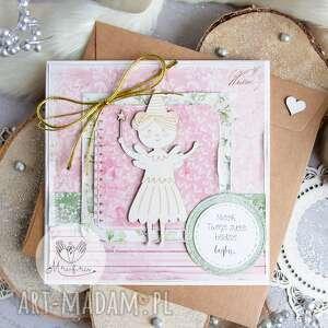 handmade scrapbooking kartki śliczna kartka dla dziecka na każdą okazję w delikatnie