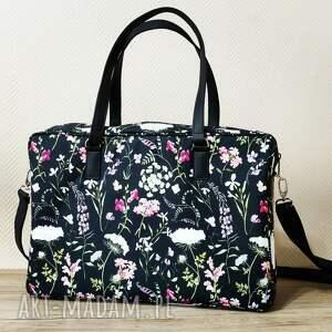 torba na laptop - polne kwiaty, laptop, case, aktówka, prezent, święta